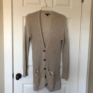 American Eagle Outfitters Oatmeal Colored Cardigan